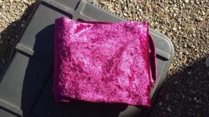 Tenture panne de velours violette
